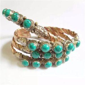 Beautiful Tibetan open cuff bracelet